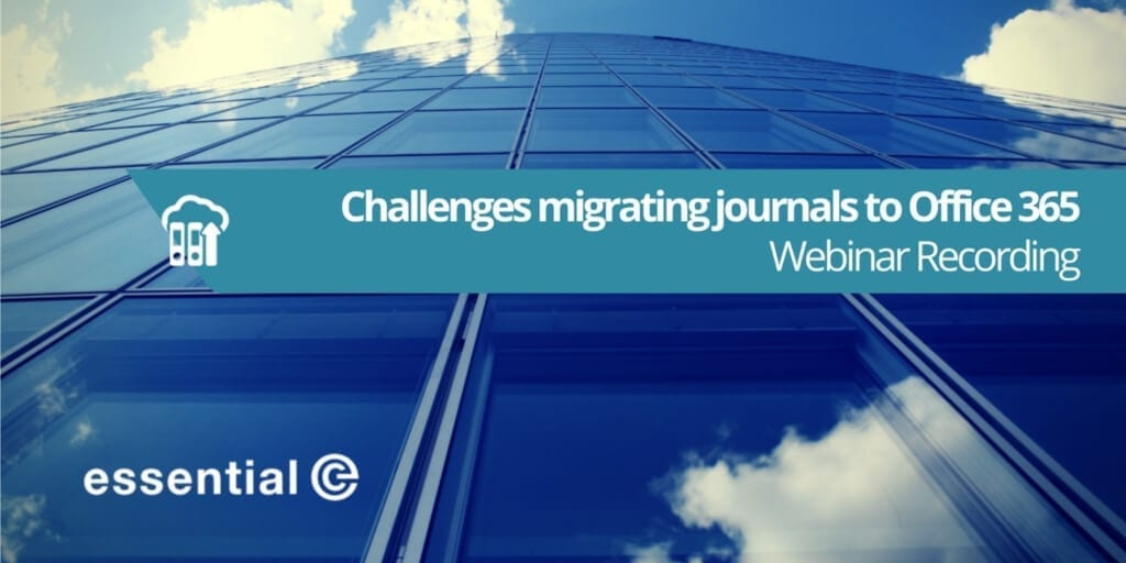 migrate legacy compliance journals to office 365