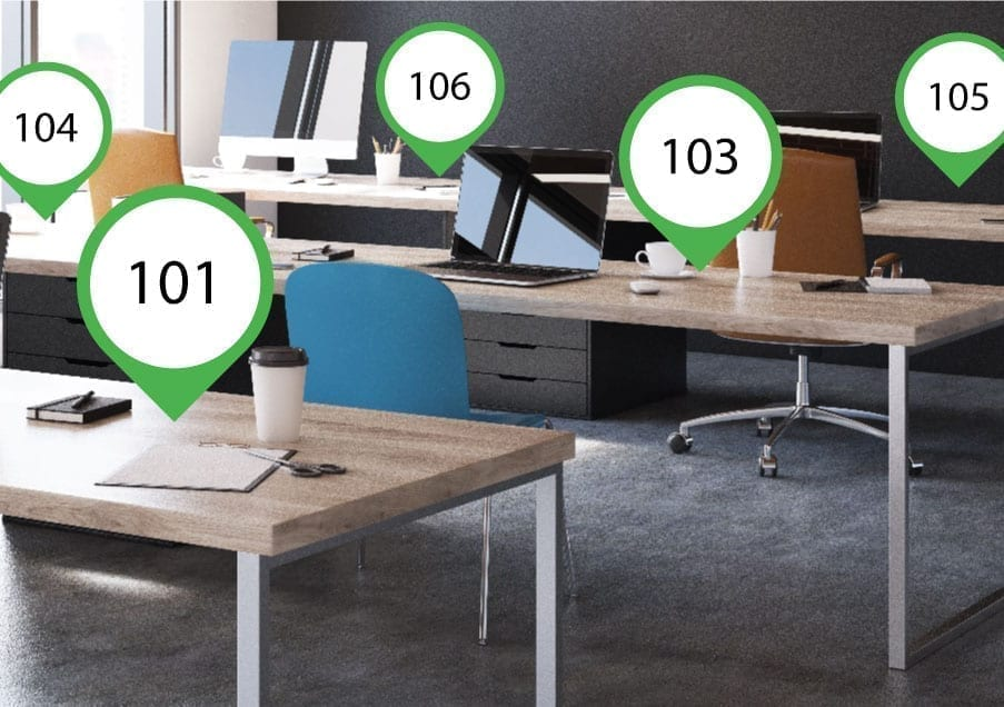 Desk numbering tips for desk booking system