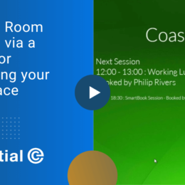 Video - Meeting Room Booking via a Tablet for optimising your workspace.cp
