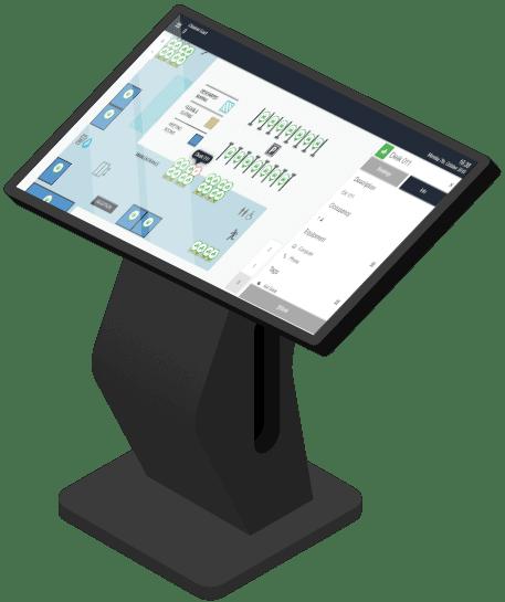 kiosk screen hot desk booking