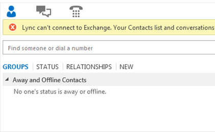 Skype for Business Lync cannot see contacts