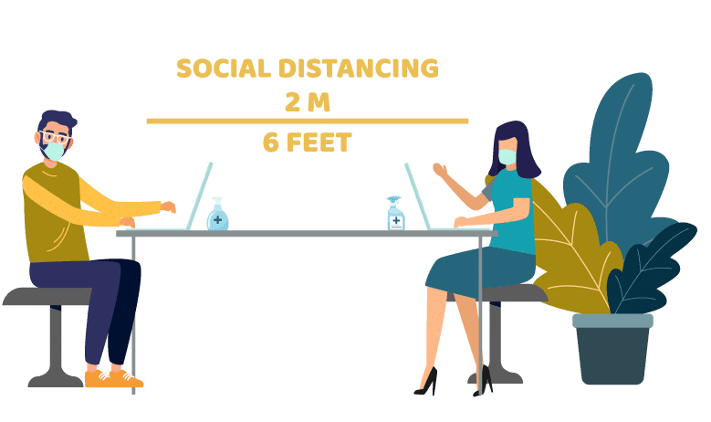 social distancing in the office